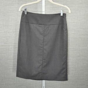 Theory Dark Grey Wool Skirt - 2
